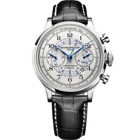 Baume & Mercier Capeland Flyback Chronograph 44Mm Stainless Steel (10006) - Watches Boston