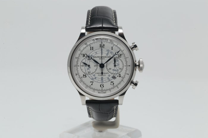 Capeland Flyback Baumeamp; 44mm Steel10006 Mercier Chronograph Stainless CWrdxBoe