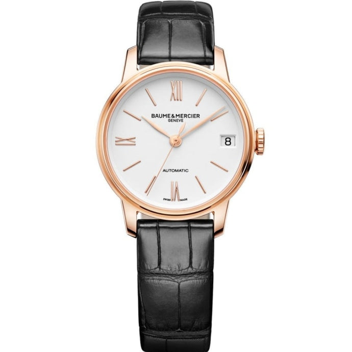 Baume & Mercier Classima 31Mm 18K Rose Gold (10270) - Watches Boston