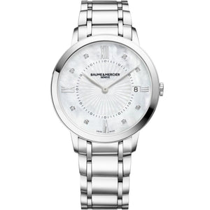 Baume & Mercier Classima 36Mm Stainless Steel (10225) - Watches Boston