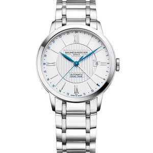 Baume & Mercier Classima Automatic Gmt 40Mm Stainless Steel (10273) - Watches Boston
