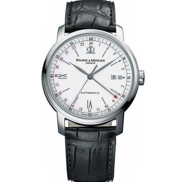Baume & Mercier Classima Automatic Gmt 42Mm Stainless Steel (08462) - Watches Boston