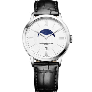Baume & Mercier Classima Moonphase 40Mm Stainless Steel (10219) - Watches Boston