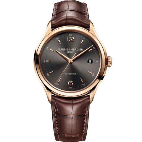 Baume & Mercier Clifton Automatic 38Mm 18K Rose Gold (10059) - Watches Boston
