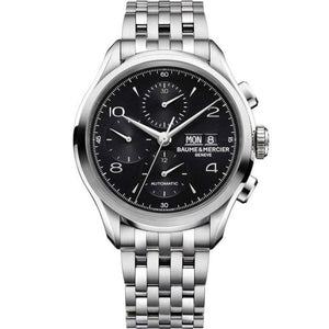 Baume & Mercier Clifton Chronograph Day Date 43Mm Stainless Steel (10212) - Watches Boston