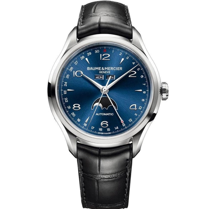 Baume & Mercier Clifton Complete Calendar Moonphase 43Mm Stainless Steel (10057) - Watches Boston