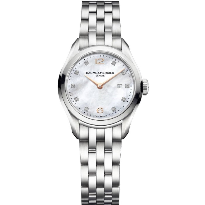 Baume & Mercier Clifton Ladies 30Mm Stainless Steel (10176) - Watches Boston