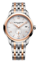 Baume & Mercier Clifton Small Seconds Automatic 41Mm Stainless Steel & Rose Gold (10140) - Watches Boston