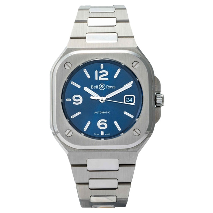Bell and Ross BR 05 Blue Stainless Steel 40mm (BR05A-BLU-ST/SST) - Boston