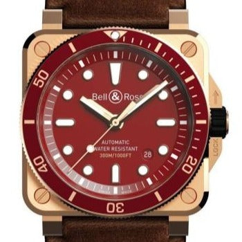 Bell & Ross BR03-92 Diver Bronze 42 Red (BR0392-D-R-BR/SCA) - Boston