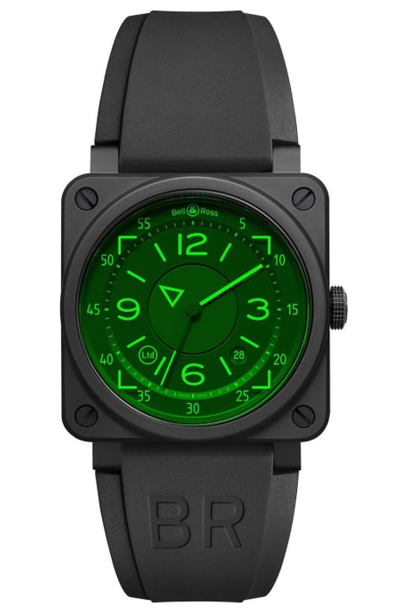 BELL & ROSS BR 03-92 HUD Matte Black Ceramic 42mm (BR 03-92 HUD) - WATCHES Boston