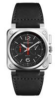 Bell & Ross Br 03-94 Black Steel 42Mm Chronograph (Br0394-Blc-St/sca) - Watches Boston