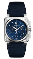 Bell & Ross Br 03-94 Blue Steel Chronograph (Br0394-Blu-St/sca) - Watches Boston