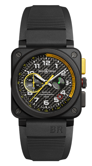 Bell & Ross Br 03-94 Rs17 Ceramic Chronograph Limited Edition (Br0394-Rs17) - Watches Boston