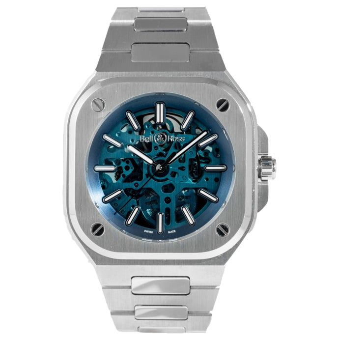Bell & Ross BR 05 Skeleton Blue Sapphire Stainless Steel 40mm (BR05A-BLU-SKST/SST) - Boston