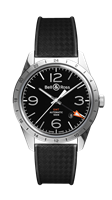 Bell & Ross Br 123 Gmt 24H Stainless Steel 42Mm (Brv123-Bl-Gmt-Srb) - Watches Boston