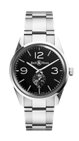 Bell & Ross Br 123 Officer Black 41Mm Stainless Steel (Brg123-Bl-St/sst) - Watches Boston