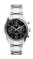 Bell & Ross Br 126 Officer Black 41Mm Stainless Steel (Brg126-Bl-St/sst) - Watches Boston