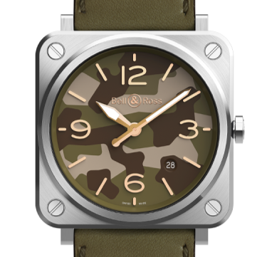 Bell & Ross Green Camo Steel - Boston