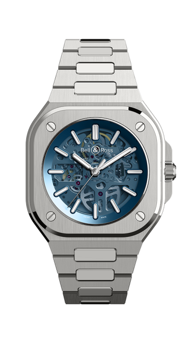 Bell & Ross BR05 Skeleton Blue Limited Edition Stainless Steel (BR05A-BLU-SKST/SST) - WATCHES Boston