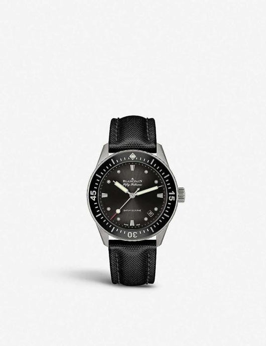 Blancpain Fifty Fathoms Steel 37mm Steel Grey Dial - Boston