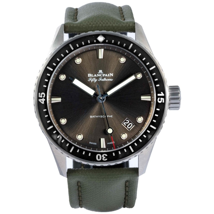 Blancpain Fifty-Fathoms Bathyscaphe Brushed Stainless Steel 43mm (5000-1110-B52A) - Boston