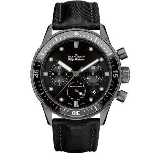 Blancpain Fifty Fathoms Bathyscaphe Chronographe Flyback Ceramic 43Mm (5200-1110-B52A) - Watches Boston
