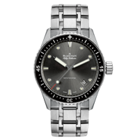 Blancpain Fifty Fathoms Bathyscaphe Stainless Steel Grey Dial 43Mm (5000-1110-70B) - Watches Boston