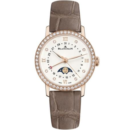Blancpain Ladies Calendar Rose Gold Moonphase 29Mm (6106298755A) - Watches Boston