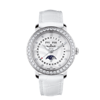 Blancpain Ladies Moonphase Complete Calendar Stainless Steel W/ Diamonds 35Mm (3663A-4654-71B) - Watches Boston