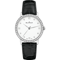 Blancpain Ladies Ultra Slim Automatic 18K White Gold W/ Diamonds 29.2Mm (6104-4628-95A) - Watches Boston