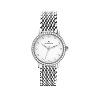 Blancpain Ladies Ultra Slim Automatic Stainless Steel W/ Diamonds 29Mm (6102-4628A-Mmb) - Watches Boston