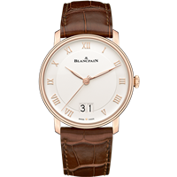 Blancpain Villeret Grande Date 18K Red Gold 40Mm (6669-3642-55B) - Watches Boston