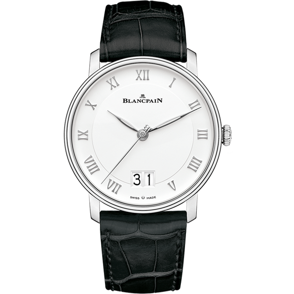 Blancpain Villeret Grande Date Stainless Steel 40Mm (6669-1127-55B) - Watches Boston