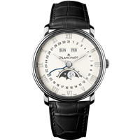 Blancpain Villeret Quantieme Complet Stainless Steel 40Mm (6654-1127-55B) - Watches Boston