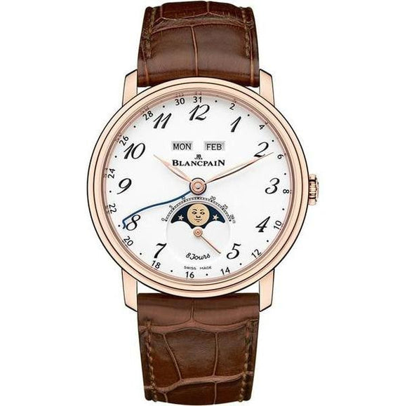 Blancpain Villeret Quantieme Complete Red Gold 42Mm (6639A-3631-55B) - Watches Boston