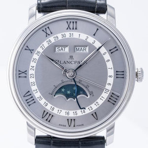 Blancpain Villeret Quantieme Moonphase & Complete Calendar Stainless Steel 40mm (6654-1113-55b) - Boston