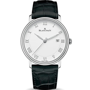 Blancpain Villeret Ultra-Slim 40mm Automatic Steel/Strap (Ref 6651-1127-55B) - WATCHES Boston