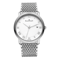 Blancpain Villeret Ultra Slim Stainless Steel 40Mm (6651-1127-Mmb) - Watches Boston