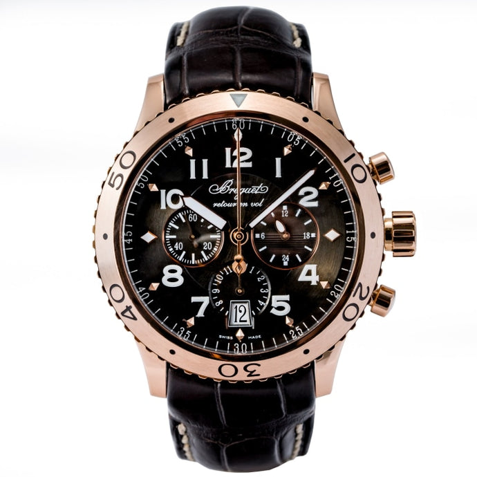Breguet Transatlantique Type XXI Flyback Chronograph GMT 18kt Rose Gold 42.5mm (3810BR/92/9ZU) - Boston