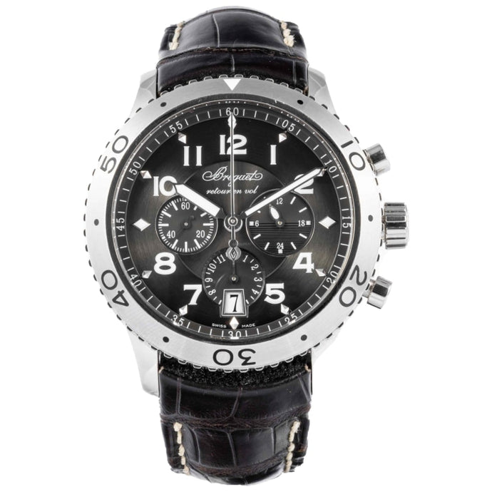 Breguet Transatlantique Type XXI Flyback Stainless Steel 42.5mm (3810ST/92/9ZU) - Boston
