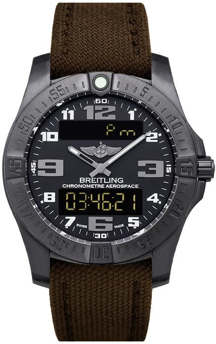 Breitling Aerospace Evo Night Mission Chronometre 43Mm Black Titanium (V7936310/bd60/108W/m20Dsa) - Watches Boston