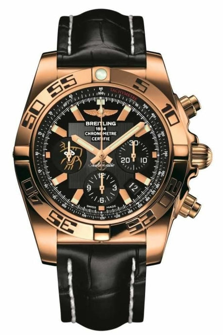 Breitling Chronomat 44Mm Limited Edition Rose Gold/leather Strap (Hbo1115W/be53/744P/h20D.1) - Watches Boston