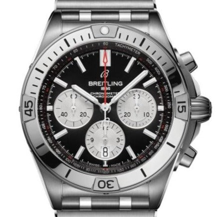 Breitling Chronomat B01 Stainless Steel 42 Black (AB0134101B1A1) - Boston
