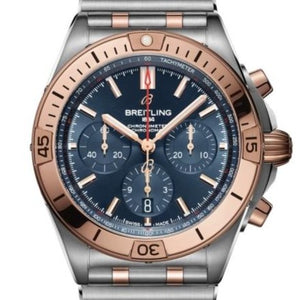 Breitling Chronomat B01 Stainless Steel/18k Rose Gold 42 Blue (UB0134101C1U1) - Boston
