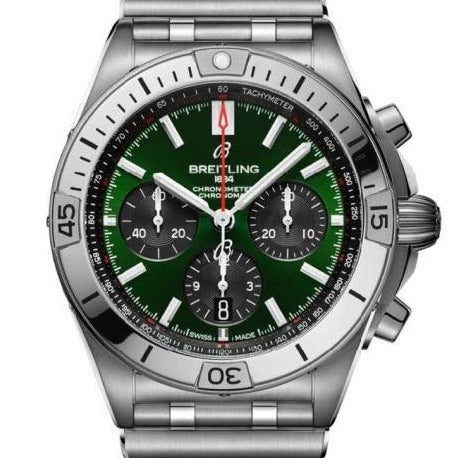 Breitling Chronomat B1 Bentley Edition Stainless Steel 42 Green (AB01343A1L1A1) - Boston