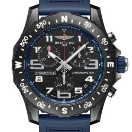 Breitling Endurance Pro Blue Chronograph 44mm Breitlight/Rubber (X82310D51B1S1) - WATCHES Boston