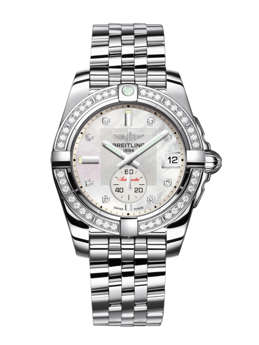 Breitling Galactic 36Mm Stainless Steel Diamond Bezel (A3733053/a717/376A) - Watches Boston
