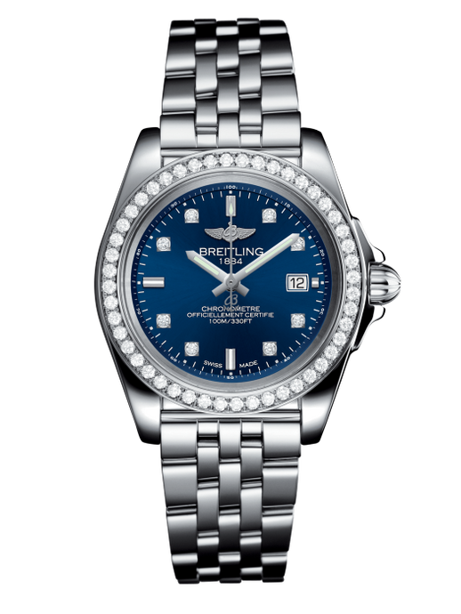 Breitling Galactic Sleek Edition 32Mm Chronometre Stainless Steel Diamond Bezel (A17133053/c966/792A) - Watches Boston