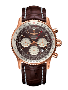 Breitling Navitimer 1 B03 Chronograph Rattrapante Limited Edition 45Mm Rose Gold/leather Strap (Rb031121/q619/756P/r20Ba.1) - Watches Boston